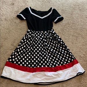 Ladies size small 50s style dress